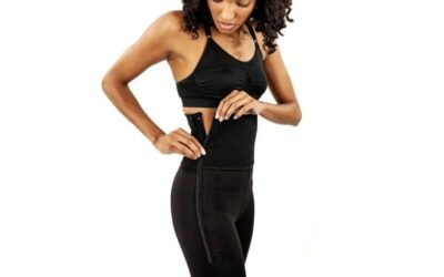 Who wears a compression garment after liposuction