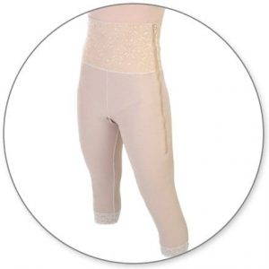 Mid Calf Girdle 6in with Slit Crotch by Contour - Style 26SC
