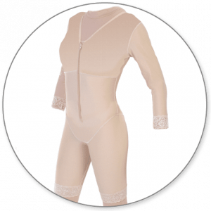 Mid Thigh Body Shaper with Sleeves by Contour - Style 27S
