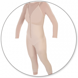Mid Calf Body Shaper with Bra Top by Contour - Style 28B