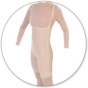 Mid Thigh Body Garment Pull On Slit Crotch - Style 34