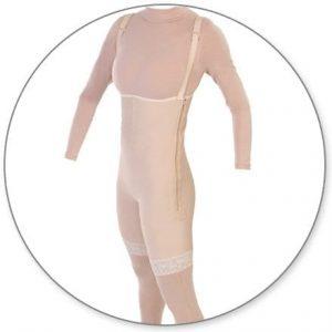 Mid Thigh Body Garment Full Zippers Slit Crotch - Style 34FLZ