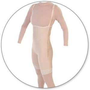 High Thigh Body Garment with Suspenders and Zipper - Style 33Z