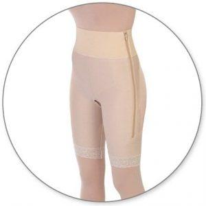 High Thigh Girdle w/ 4in Waist Slit Crotch - Style 4HT