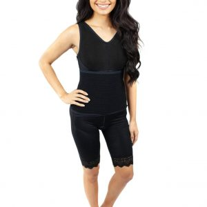 Fat Transfer Garment Mid Thigh Side Zippers Binder - Style 51Z