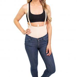 Mid Calf Body Garment Side Zippers Slit Crotch - Style 35Z