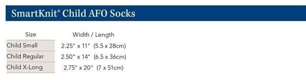 Smartknit Child Size AFO Interface Socks Blue