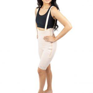 Mid Thigh Body Garment Side Zippers Slit Crotch - Style 34Z